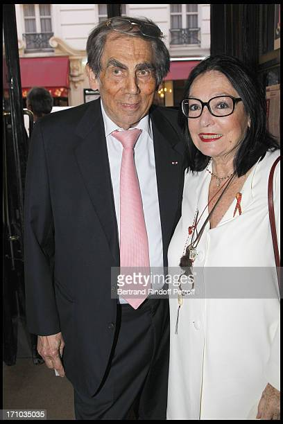 Doctor Pierre Huth Nana Mouskouri at Homage To JeanClaude Brialy At Theatre Des Bouffes Parisiens