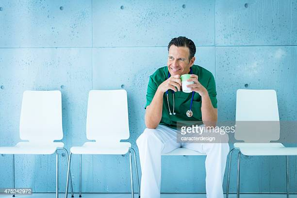 doctor relaxing after operation - weekend activities stock pictures, royalty-free photos & images