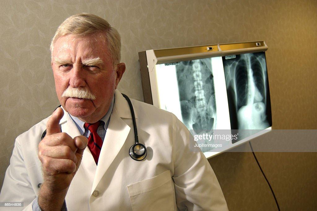 Doctor scolding : Stock Photo