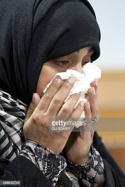 Doctor Shameela IslamZulfiqar who traveled with aid worker Alan Henning on humanitarian missions to Syria reacts during a press conference in...