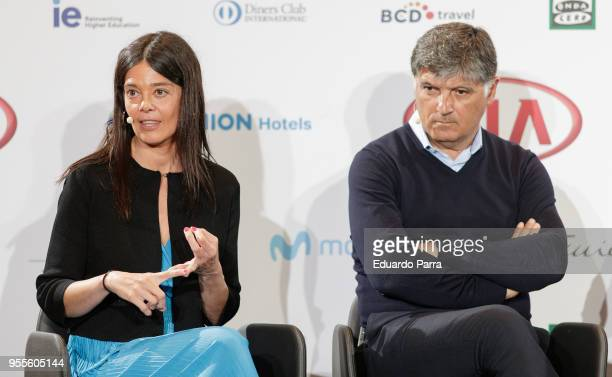 Doctor Silvia Leal and Toni Nadal attend the 'MABS 2018' presentation at Ilunion hotel on May 7 2018 in Madrid Spain