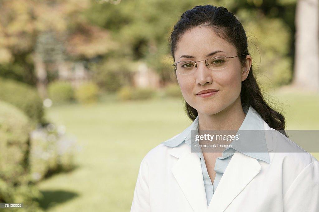 Doctor smiling : Stockfoto