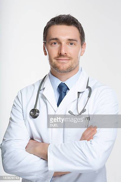 Doctor standing with crossed arms