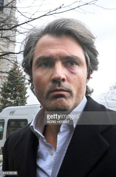 Doctor Stephane Delajoux the French surgeon at the center of allegations of performing a botched operation on rock legend Johnny Hallyday, arrives at...