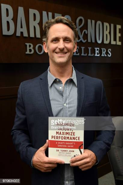 "Doctor Tommy John speaks and signs copies of his new book, ""Minimize Injury, Maximize Performance"" at Barnes & Noble at The Grove on June 9, 2018 in..."