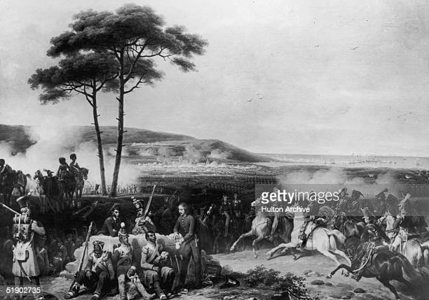 A doctor treats the injured at the Battle of Corunna in Galicia during the Napoleonic Wars 16th January 1809