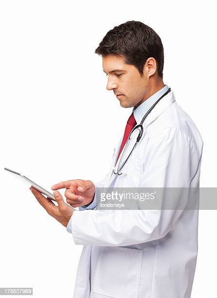 Doctor Using a Digital Tablet - Isolated
