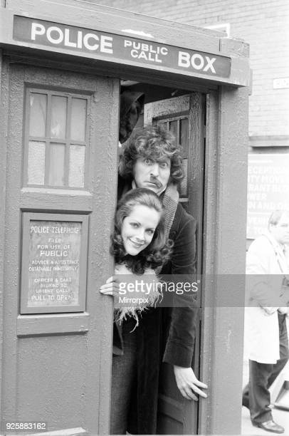 Doctor Who actor Tom Baker the 4th Doctor pictured with fellow Time Lord Romana played by actress Mary Tamm 25th April 1978