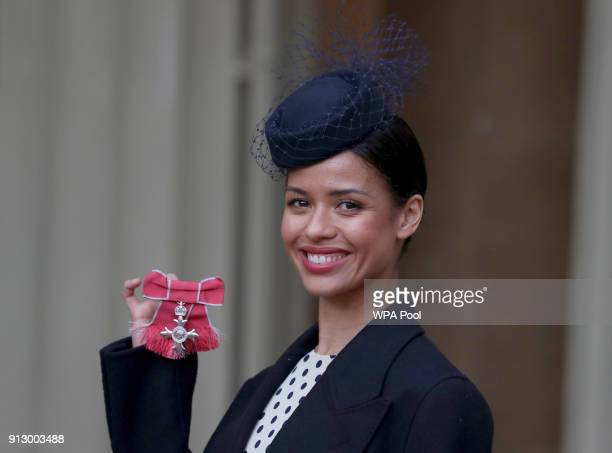 Doctor Who actress Gugulethu MbathaRaw after she was awarded an MBE by the Prince of Wales during an Investiture ceremony at Buckingham Palace on...