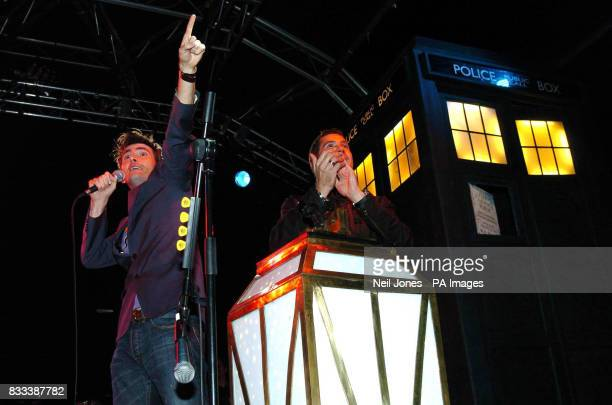 Doctor Who star David Tennant prepares to switch on the world famous Blackpool Illuminations as he stands with event host Dale Winton at the...