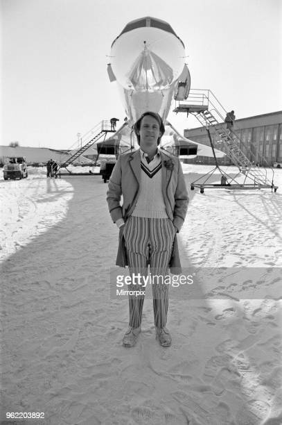 Doctor Who star Peter Davison came face to face with Concorde today when the Doctor's travels took him to Heathrow Airport 11th January 1982