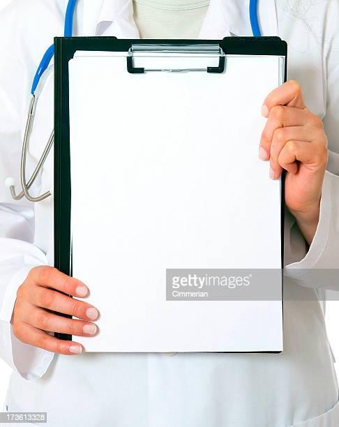 医師にクリップボード