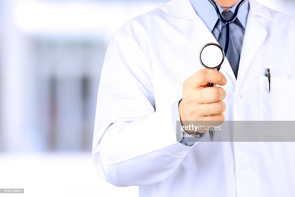 Doctor with stethoscope : Stock Photo