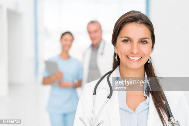 Doctor working at the hospital