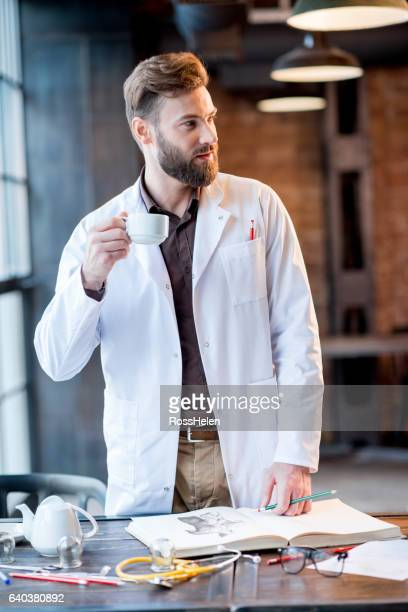 Doctor working with paperwork