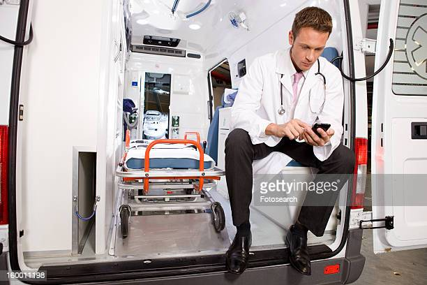 Doctor writing  sms