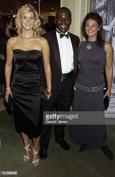Doctors actresses Andrea Green and Natalie Robb with guest arrive at the 'TV Quick Awards 2004' at The Dorchester on September 6 2004 in London The...