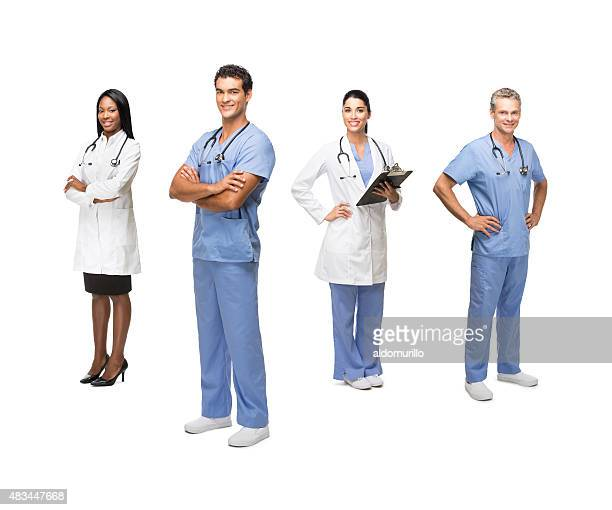doctors and healthcare workers - full length stock pictures, royalty-free photos & images