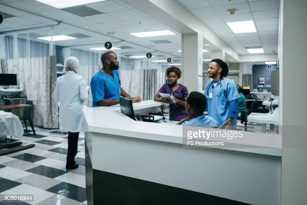 Doctors and nurses in hospital