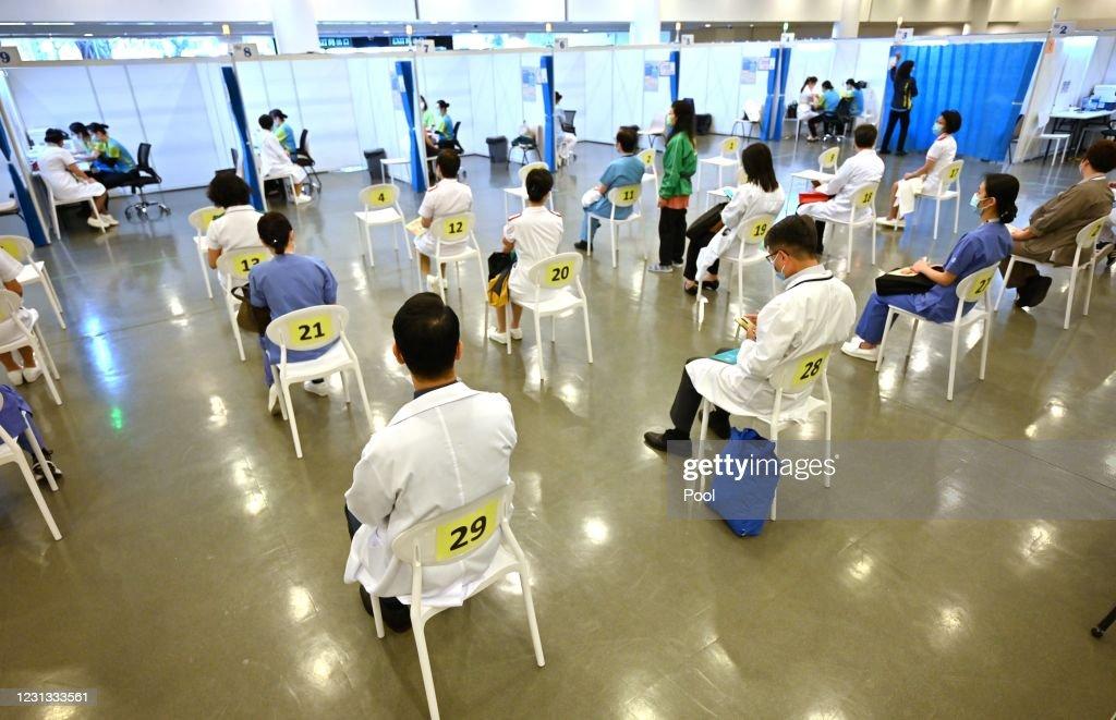 Covid-19 Vaccinations Start In Hong Kong : News Photo