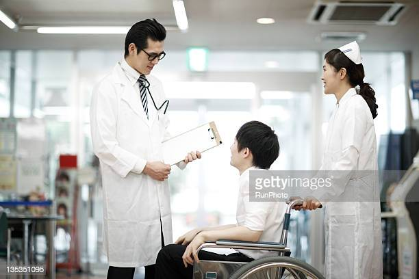 doctors and patients at hospital