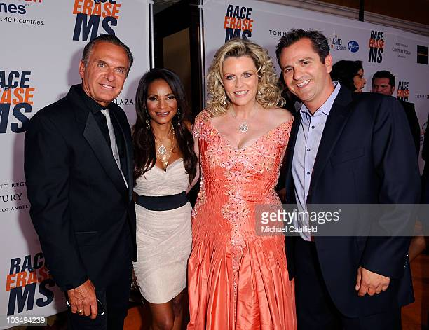 Doctors Andrew Ordon Lisa Masterson Nancy Davis and doctor Jim Sears arrive at the 17th Annual Race to Erase MS event cochaired by Nancy Davis and...