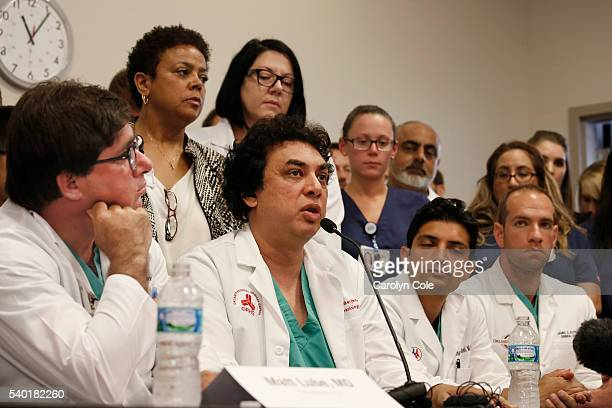 Doctors answer questions about the night and morning of the attack on Pulse nightclub during a press conference at Orlando Regional Medical Center on...