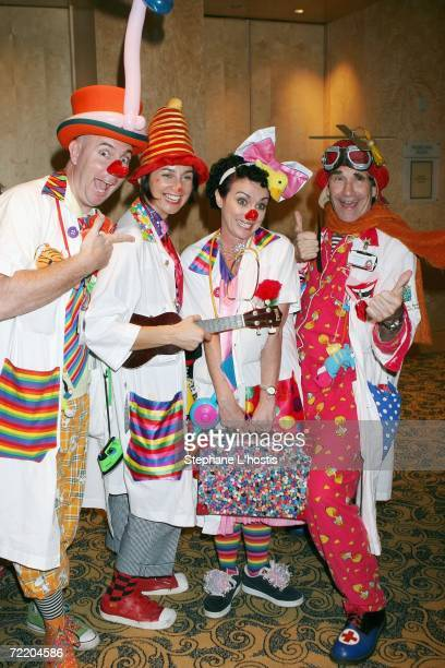 Doctors arrives at the An Evening With Patch Adams Fundraiser at the Sofitel Wentworth on October 18, 2006 in Sydney, Australia. The event is to...