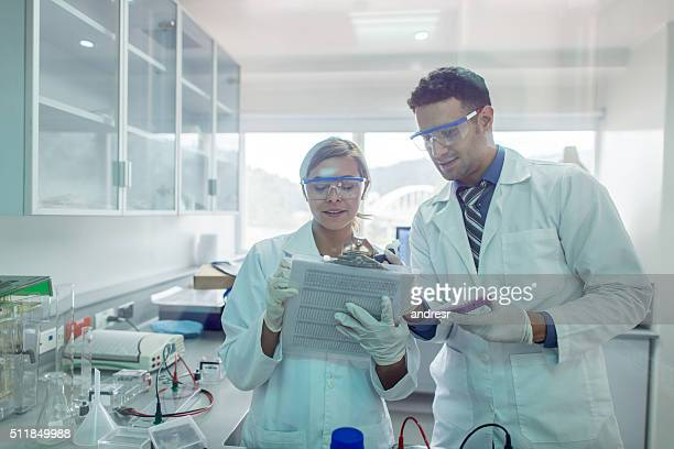 Doctors at the laboratory doing medical research