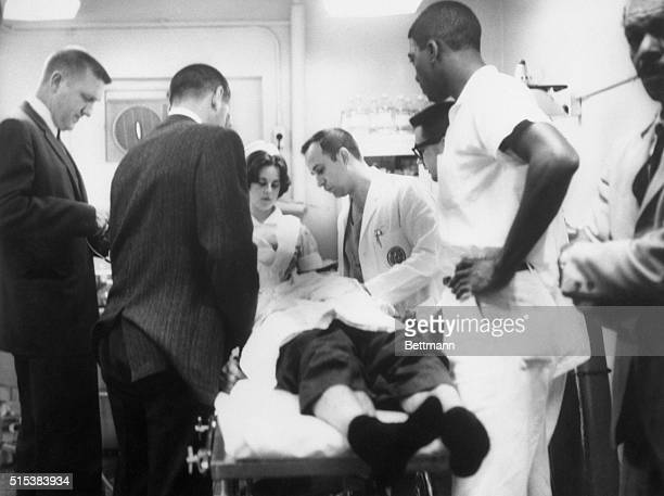 Doctors at University of Alabama Hospital 3/9 night work on Rev James Reeb from Boston who was critically beaten by five white men in Selma after he...