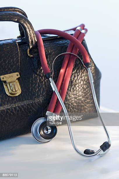 Doctor's bag with stethascope