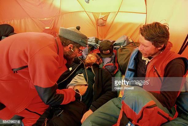 Doctors Examining Climber