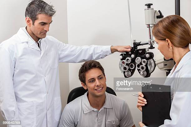 Doctors explaining the results