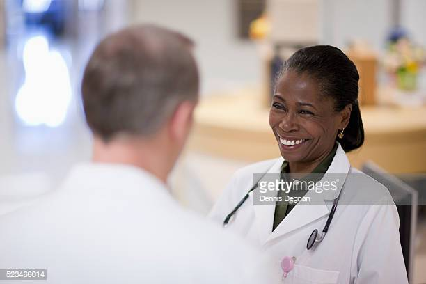 Doctors laughing