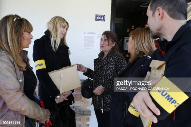 Doctors of the HauteCorse's Medicopsychological emergency cell gather prior to enter the Borgo jail to meet prisoners in need on January 23 2018 in...