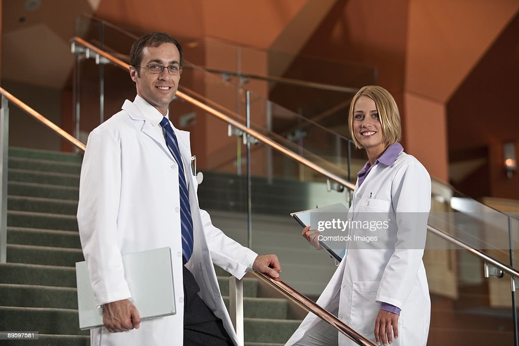 doctors on stairs : Stock Photo