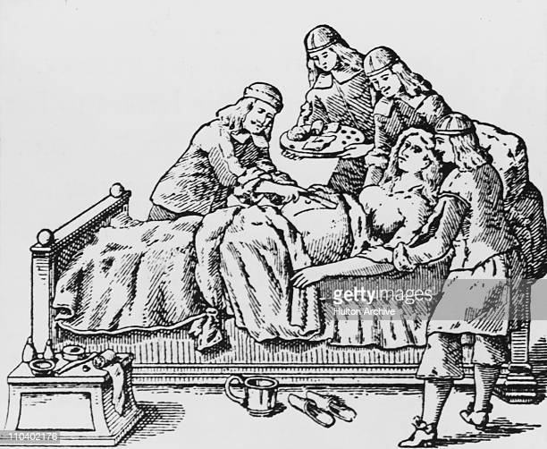 Doctors perform a caesarean section circa 1650 Woodcut from the works of 17th Century surgeon Johann Schultes