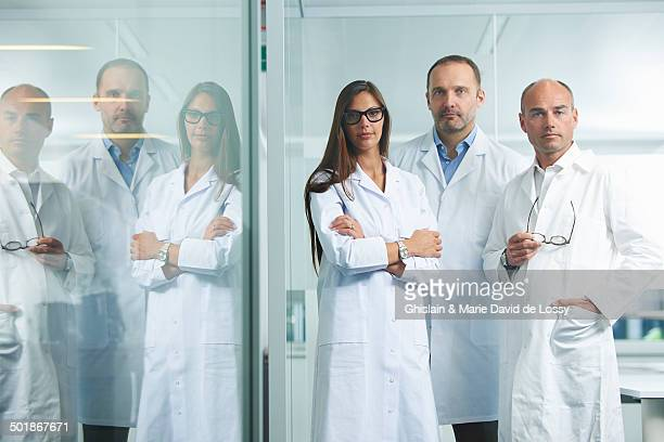 Doctors posing for camera