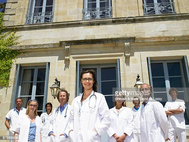 Doctors standing outdoors