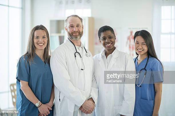 Doctors Standing with Their Staff