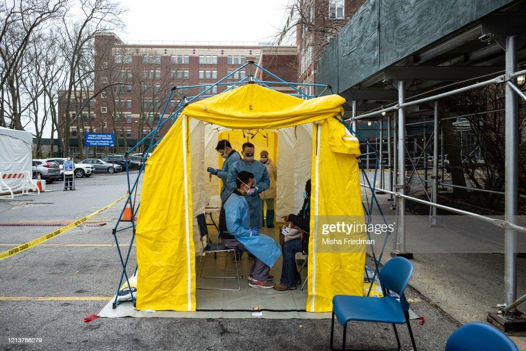New York City Hospital Adds New Protocols And Triage To Address Coronavirus : News Photo