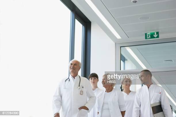 Doctors walking side by side