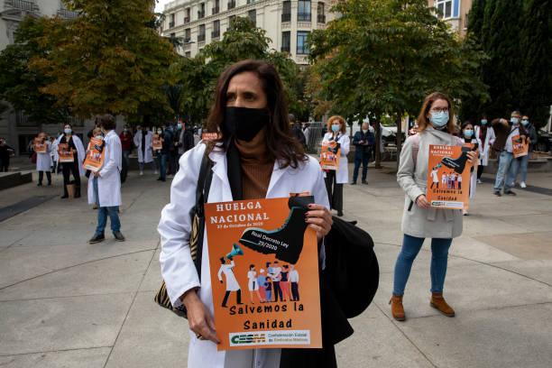 ESP: Doctors General Strike In Madrid