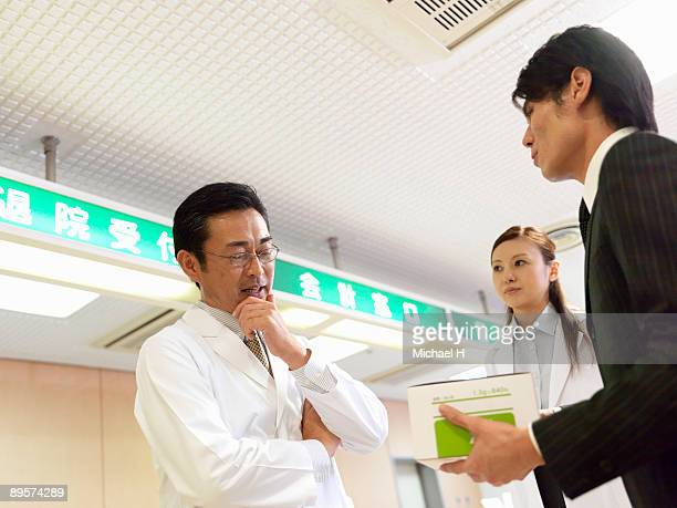 Doctors who speak with salesman of medical supply