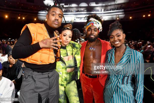 Doctur Dot Layton Greene Johnny Venus and Tiana Major9 attend the 2019 Soul Train Awards presented by BET at the Orleans Arena on November 17 2019 in...