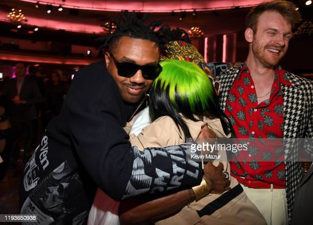 Doctur Dot of EarthGang Johnny Venus Billie Eilish and Finneas O'Connell attend Billboard Women In Music 2019 presented by YouTube Music on December...