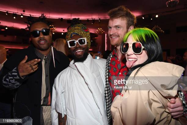 Doctur Dot of EarthGang Johnny Venus Finneas O'Connell and Billie Eilish attend Billboard Women In Music 2019 presented by YouTube Music on December...