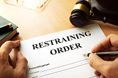 Document with the name restraining order.