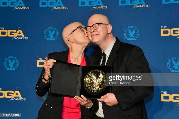 DGA Documentary Award winners for 'American Factory' Julia Reichert and Steven Bognar pose in the press room during the 72nd Annual Directors Guild...