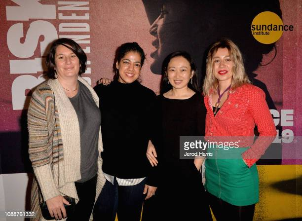 Documentary Creative Producing Fellows Alice Henty Amilca Palmer Violet Feng and Mara Adina attend the DFR Reception during the 2019 Sundance Film...